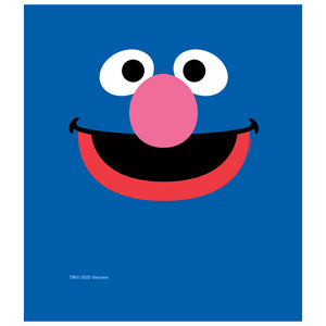 Sesame Street Grover Face Kids Mask Design Full View