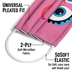 Sesame Street Abby Face Adult Universal Pleated Fit, 2-Ply, SoSoft Elastic Earloops