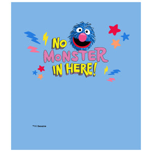 Load image into Gallery viewer, Sesame Street Grover No Monster in Here Kids Mask Design Full View
