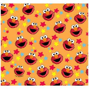 Sesame Street Elmo and Stars Pattern Adult Mask Design Full View