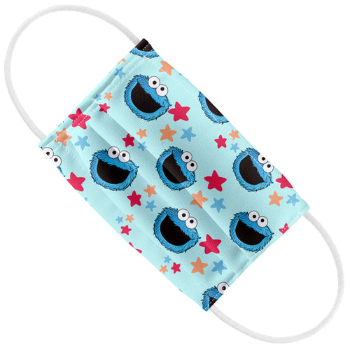 Sesame Street Cookie Monster and Stars Pattern Kids Flat View