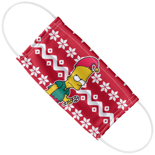 The Simpsons Bart Elf Sweater Pattern Adult Flat View
