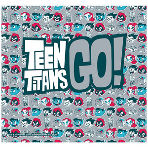 Teen Titans Go! 4 Color Pattern Adult Mask Design Full View