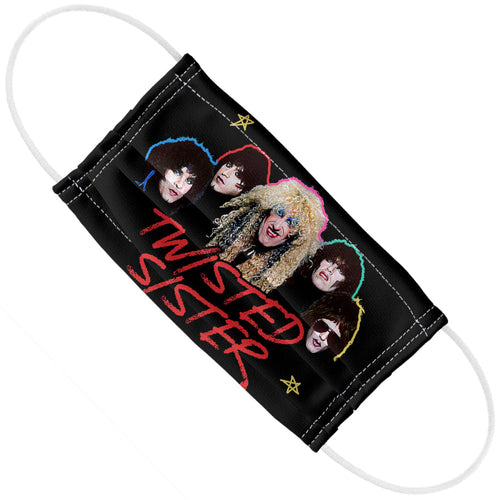 Twisted Sister Lipstick Stars Adult Flat View