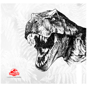 Jurassic Park T-Rex Head Adult Mask Design Full View