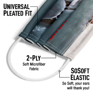 Jaws Poster Adult Universal Pleated Fit, 2-Ply, SoSoft Elastic Earloops