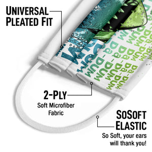 Load image into Gallery viewer, Jaws Da Dum Da Dum Kids Universal Pleated Fit, 2-Ply, SoSoft Elastic Earloops