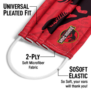 Jurassic Park T-Rex Skull Adult Universal Pleated Fit, 2-Ply, SoSoft Elastic Earloops
