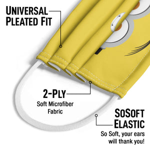 Minions Kevin Face Kids Universal Pleated Fit, 2-Ply, SoSoft Elastic Earloops