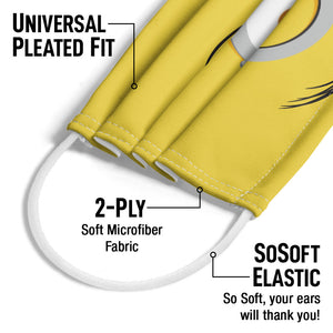 Minions Stuart Face Adult Universal Pleated Fit, 2-Ply, SoSoft Elastic Earloops