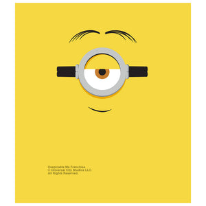 Load image into Gallery viewer, Minions Stuart Face Kids Mask Design Full View