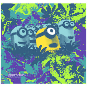 Minions Tropical Adult Mask Design Full View