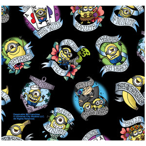 Minions Tattoo Pattern Adult Mask Design Full View