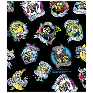 Minions Tattoo Pattern Kids Mask Design Full View