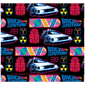 Back to the Future Neon Pattern Adult Mask Design Full View