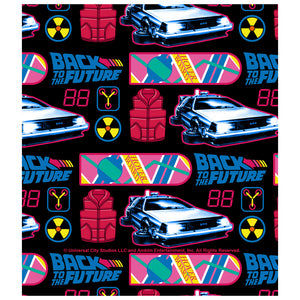 Load image into Gallery viewer, Back to the Future Neon Pattern Kids Mask Design Full View