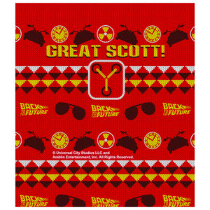 Back to the Future Great Scott Sweater Kids Mask Design Full View