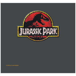 Load image into Gallery viewer, Jurassic Park Stone Logo Adult Mask Design Full View