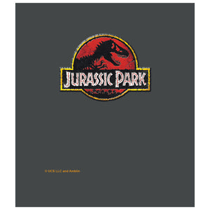 Load image into Gallery viewer, Jurassic Park Stone Logo Kids Mask Design Full View