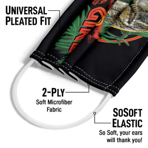 Load image into Gallery viewer, Jurassic Park Clever Girl Adult Universal Pleated Fit, 2-Ply, SoSoft Elastic Earloops