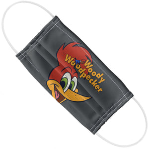 Woody Woodpecker Retro Logo Adult Flat View