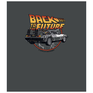 Back to the Future Time Machine Kids Mask Design Full View