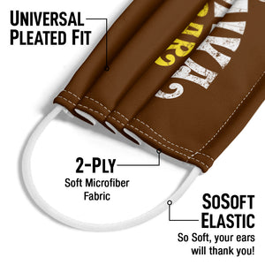 Willy Wonka and the Chocolate Factory Movie Logo Adult Universal Pleated Fit, 2-Ply, SoSoft Elastic Earloops