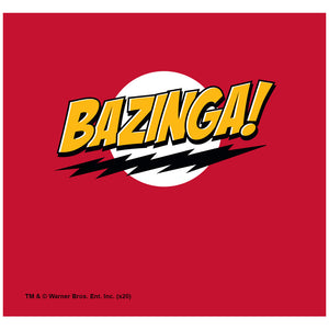 The Big Bang Theory Bazinga Adult Mask Design Full View