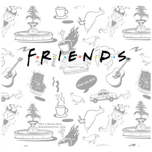Friends Logo and Icon Pattern Adult Mask Design Full View