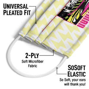 WWE Macho Man Bolt Adult Universal Pleated Fit, 2-Ply, SoSoft Elastic Earloops