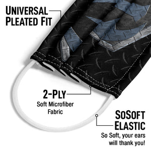 WWE Roman Reigns Steel Adult Universal Pleated Fit, 2-Ply, SoSoft Elastic Earloops