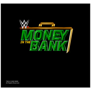 WWE Money in the Bank Adult Mask Design Full View