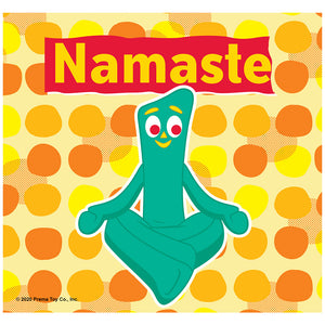 Gumby Namaste Yoga Meditation Adult Mask Design Full View