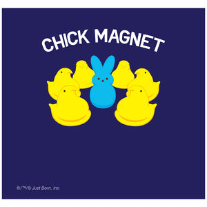 Peeps Chick Magnet with Bunny Officially Licensed Adult Mask Design Full View