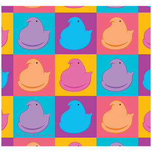 Peeps In Squares In Four Colors Adult Mask Design Full View