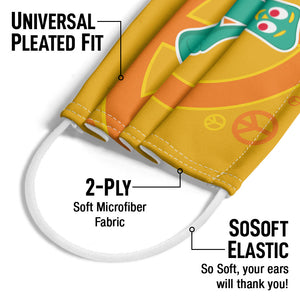 Gumby Meditating with Peace Sign Adult Universal Pleated Fit, 2-Ply, SoSoft Elastic Earloops