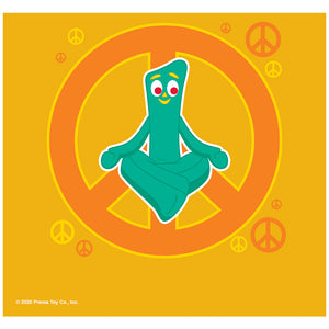 Gumby Meditating with Peace Sign Adult Mask Design Full View