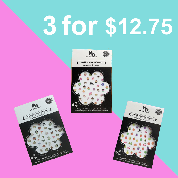 TRIO NAIL STICKERS PACK | SAVE OVER 15%