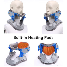 Load image into Gallery viewer, Heating Neck Stretcher, Cervical Traction Stretching, Neck Support Brace Electric Hot Compression, Neck Spine Stretch Collar Pain Relief. - Arganna Skin
