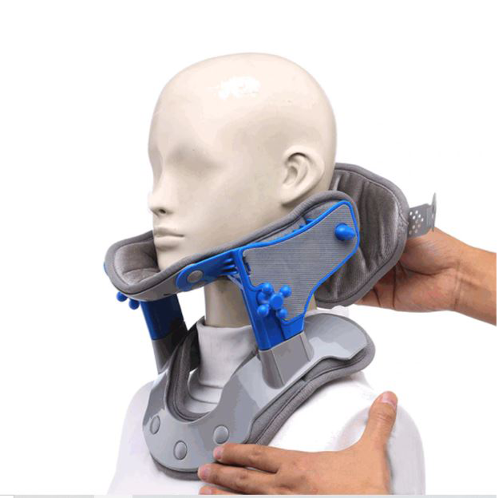 Heating Neck Stretcher, Cervical Traction Stretching, Neck Support Brace Electric Hot Compression, Neck Spine Stretch Collar Pain Relief. - Arganna Skin