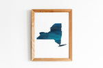 Blue New York State Print by Gert & Co