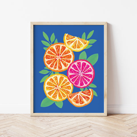 oranges on blue by Gert & Co