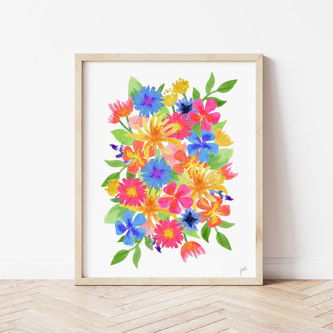 Bright Wildflower Print by Gert & Co
