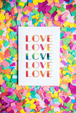 Love Rainbow Print with Confetti by Gert & Co