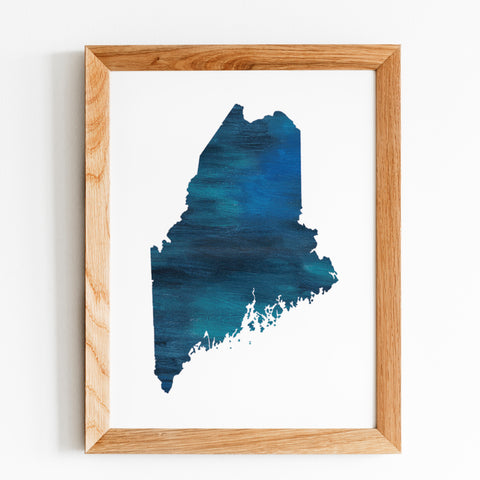 Blue Maine State Print by Gert & Co