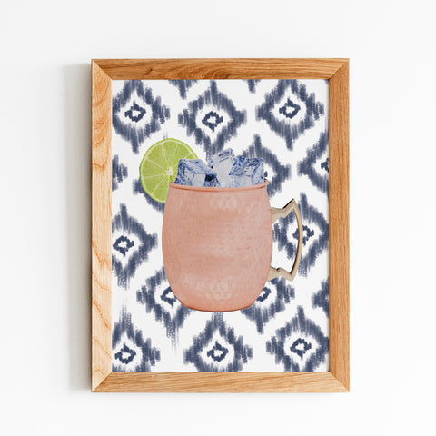 Moscow Mule and Ikat Print Framed by Gert & Co