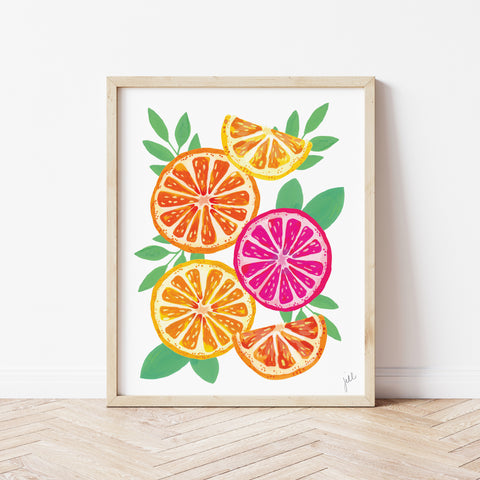 Oranges on White Print by Gert & Co