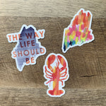 Trio of Maine Stickers by Gert & Co