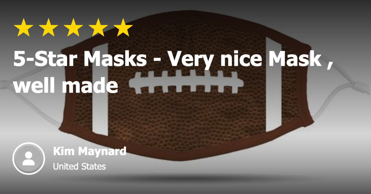 5-Star Football Face Cover for Kids and Adults