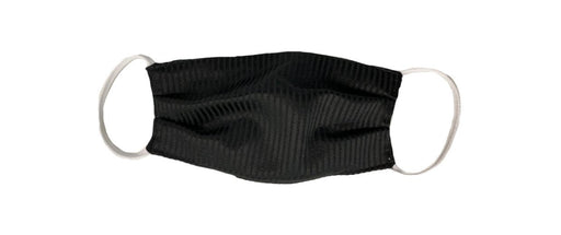 Black Pinstriped Face Cover with Elastic Ear Straps Cloth Face Cover BEND Active